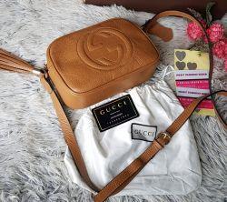 Bolsa Gucci Modelo Disco Caramelo