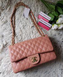 Bolsa Modelo Flap Classic Rosê *Oferta