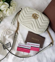 Bolsa Modelo Gucci Marmont  Off White M