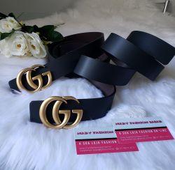 Cinto Modelo Gucci Premium - Ouro Envelhecido - Dupla Face