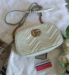 Bolsa Modelo Gucci Marmont Off White