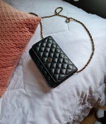Bolsa Modelo Woc  All Black com Dourado